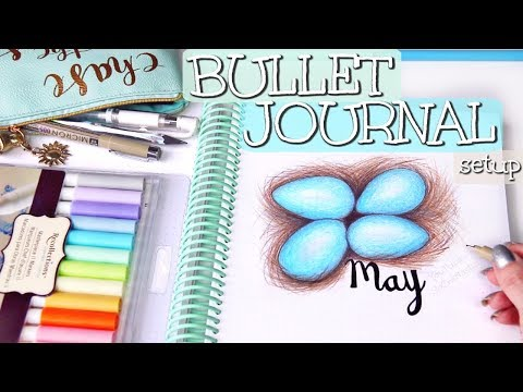 PLAN WITH ME - May 2018 Bullet Journal Setup | SoCraftastic