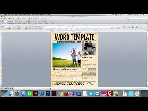How to update images in Word Newspaper Template