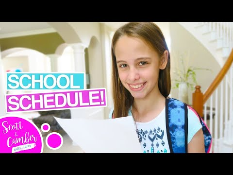 😁HER MIDDLE SCHOOL CLASS SCHEDULE!!!📓 | Scott and Camber