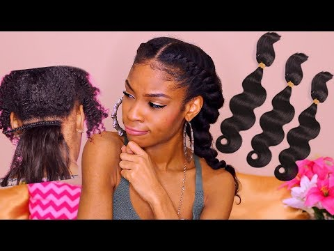 Braid in Bundles Review► 1 Hour Weave on Natural Hair