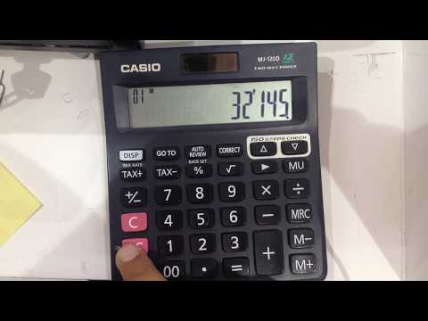 How to use memory button in calculator M+ MRC M-