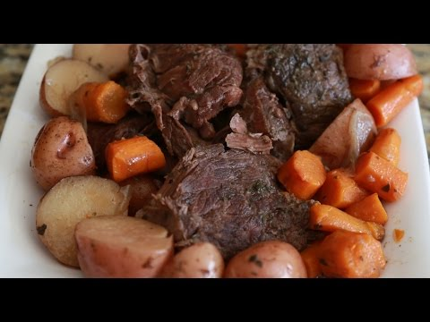 Savory Slow Cooker Red Wine Pot Roast!