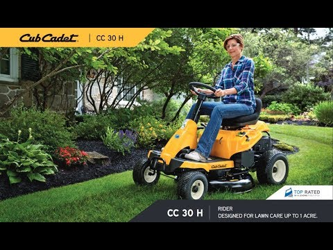 Testing The Smallest Lawn Tractor / Mower Cub Cadet 30 CC30 in action