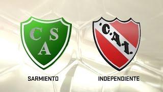 Sarmiento vs. Independiente. Fecha 5. Torneo de Primera División 2016/2017. FPT