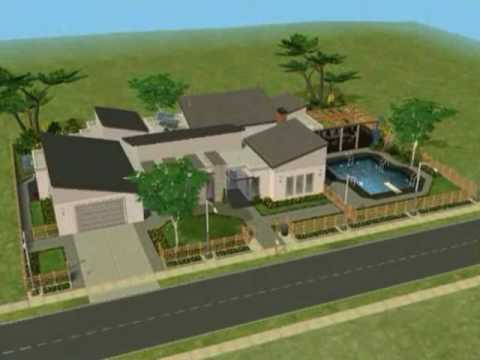 The Sims 2 - Green House Building Process