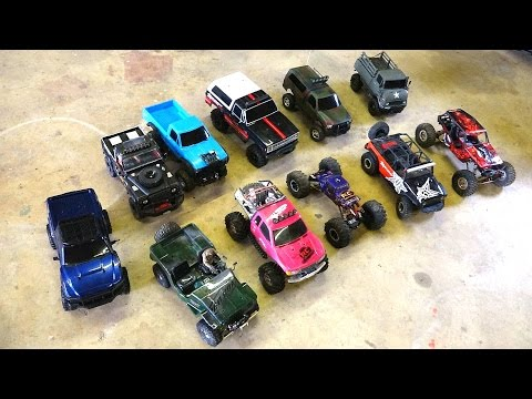 RC ADVENTURES - 11 Scale Trail Crawler Comparisons:  G-Made, Axial, RC4WD, Tamiya & Vaterra