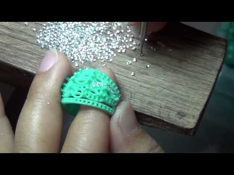How to set stones on the jewelry wax