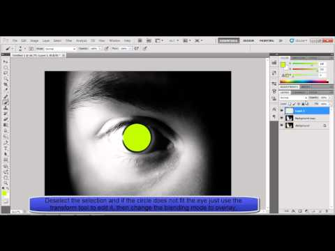 Adobe Photoshop CS5 - Eye Colour Tutorial