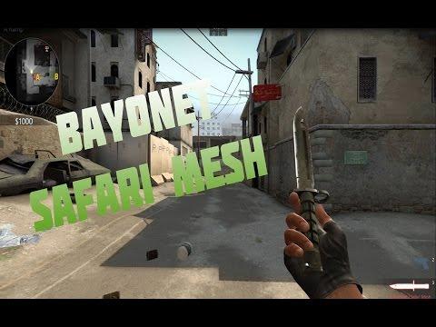 CS:GO Skin Showcase - Bayonet   Safari Mesh