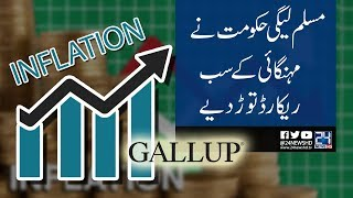 Gallup: Inflation hiked in PML-N