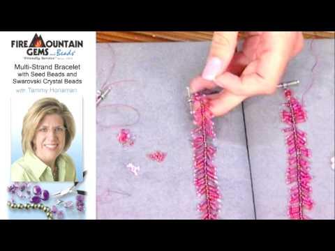 Make a Multi-Strand Swarovski Bracelet