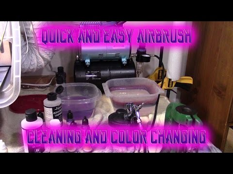 How to Quickly Clean Your Airbrush Between Colors: Airbrushing Guide