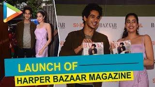 Janhvi Kapoor, Ishaan Khattar unveil Harper Bazaar's July-August issue