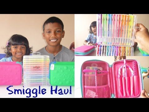 SMIGGLE HAUL 2016 - Pencil cases, scented gel pens with amazing colours スミグル コレクション
