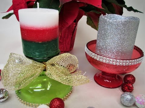Quick Tip Christmas Candle Holders ~ Featuring Miriam Joy