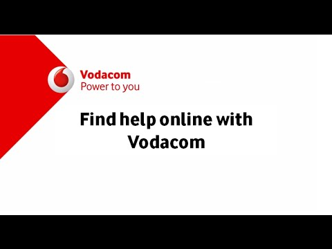 Get the Help you need Online at Vodacom.co.za