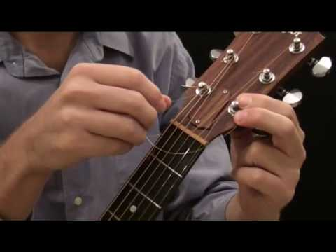 How To Put New Strings On An Acoustic Guitar (Steel String)