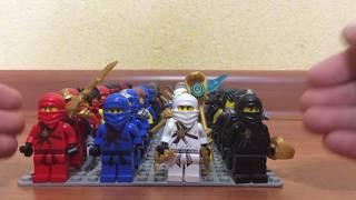Моя коллекция лего минифигурок лего ниндзяго(Lego Ninjago)