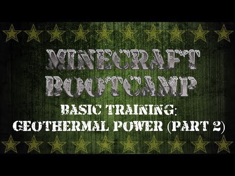 Minecraft Bootcamp | Basic Training | Geothermal Power Part 2 | Pumping Lava From the Nether