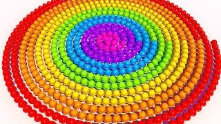 A lot of 3D Spiral Ice Cream to Learning Colors for Children and Kids