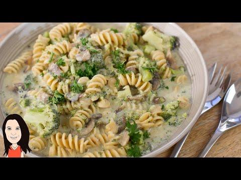 One Pot Creamy Mushroom Pasta Recipe - Dairy Free!