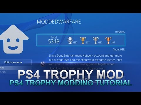 PS4 Mod Displayed Trophies on your Profile