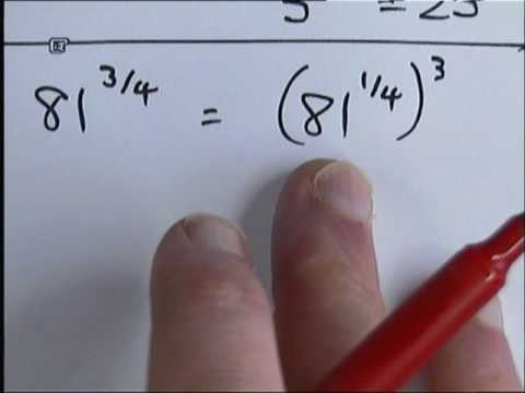 How to deal with fractional powers.wmv