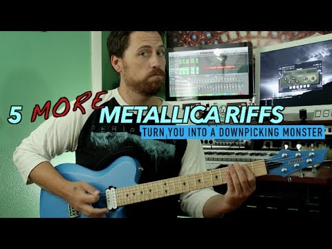 Five MORE Metallica Riffs To Improve Your Downpicking