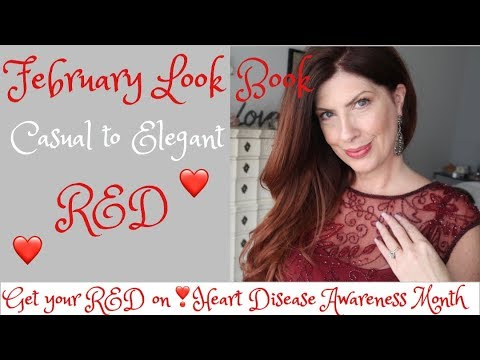 Get YOUR RED ON for Heart Disease Awareness Month LOOK BOOK Valentine outfits