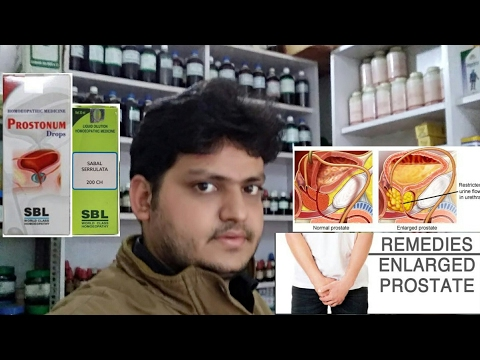 How to treat Enlarge prostate by homeopathic medicine?? explain!