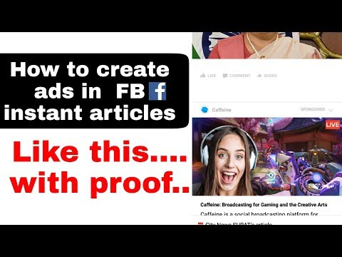 How to create Sponsored ads in facebook instant articles