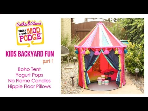 Kids Backyard Fun: DIY Ikea Hack Boho Tent