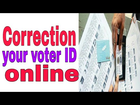 how to correction voter id card online in india
