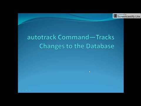 Autosys Tutorials: autotrack Command—Tracks Changes to the Database
