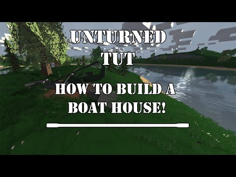 Tutorial|How To Build A Boat House|Unturned