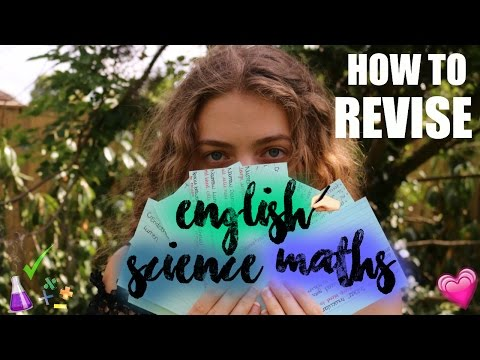 A* Revision Tips - How to Revise English, Maths & Science! HOW I GOT ALL A* AT GCSE