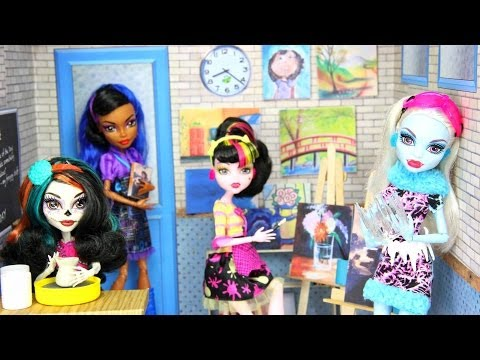 How to Make a Doll Art Room - Doll Crafts