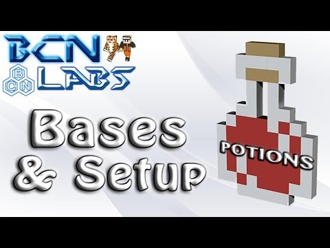Minecraft How To: The Potion Guide - How to Make Base Potions (Awkward, Mundane, Thick)!