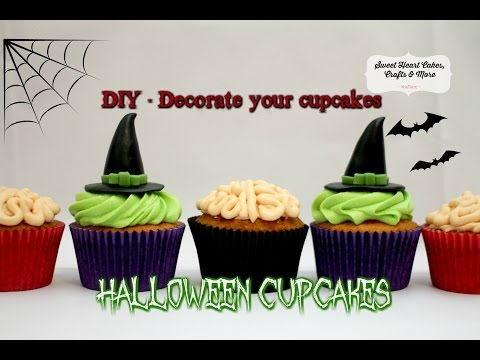 Halloween Cupcakes - Zombie Brain & Wicked Witch Cake Decorating DIY Tutorial