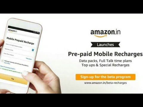 Amazon directly recharge option    From Your amazon account