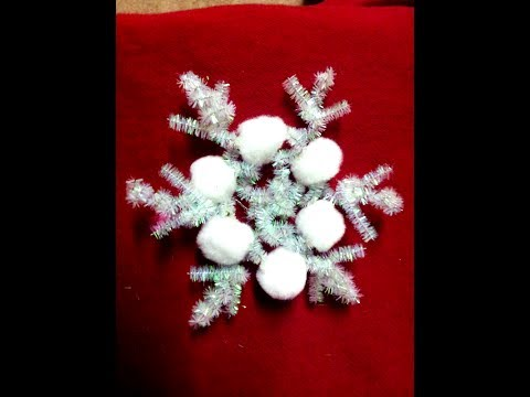How to make Snowflake Ornaments Christmas Craft Easy & Quick Tutorial