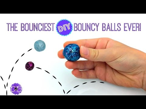 DIY BOUNCY BALLS! SLIME BALLS THAT REALLY BOUNCE!