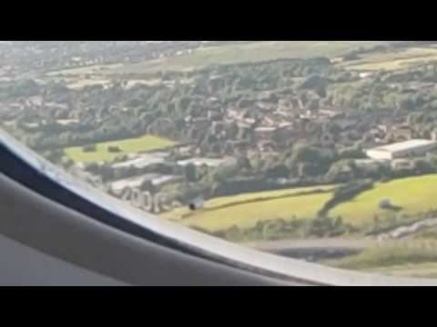 Takeoff from Heathrow Airport, Flying Over British Isles, southern England and Ireland
