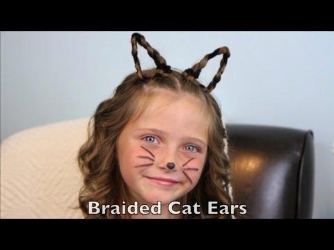 Braided Cat Ears | Halloween Hairstyles | Cute Girls Hairstyles