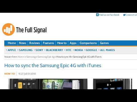 How-To Get Itunes To The Sprint Epic 4G