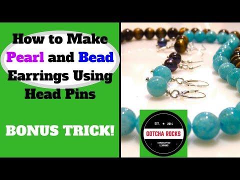 HOW TO MAKE EARRINGS - (2018) PEARL AND BEAD EARRINGS EASY - DIY TUTORIAL