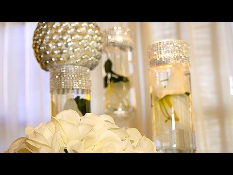 DIY | Dollar Tree Wedding Bling Centerpieces