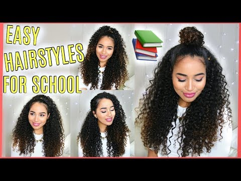 4 Easy, Pretty Curly Hairstyles - Fall/Winter 2017! Lana Summer