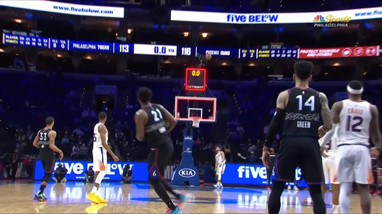 Joel Embiid was THIS close to hitting the most incredible game-tying shot! 😮