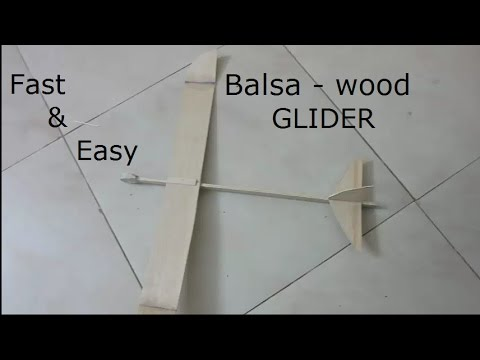 How to make a balsa glider that flies 60 feet (build and fly tutorial) MUST WATCH